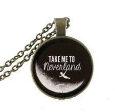 PETER PAN NEVERLAND FANTASY BOY GIRL  pendant charm BRONZE necklace FREE $20 4U