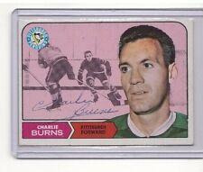 Charlie Burns Signed 1968-69 Topps Nhl Hockey Card #108 Genuine Autograph