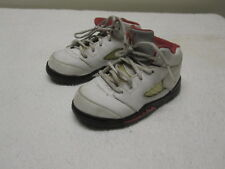 AIR JORDAN 2012 Retro V 5 White Red Infant Baby Basketball Shoes Size 8C