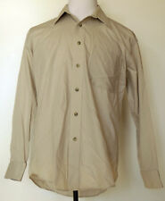 Yves Saint Laurent Beige Button-Front L/S Cotton/Poly Dress Shirt 15 1/2 32-33