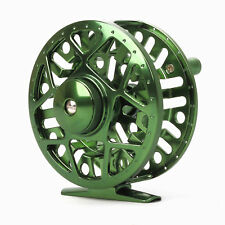 5/6 CNC Machined Aluminum Fly Fishing Reel Disc Drag Large Arbor Green Colour