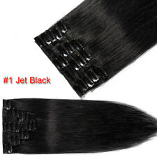 Long 7PCS Remy Hair Clip In 100% Human Hair Extensions Full Head Highlight USPS