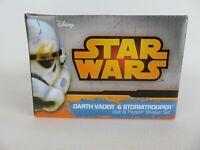 Official DISNEY Star Wars Darth Vader & StormTrooper Salt & Pepper Shaker Set
