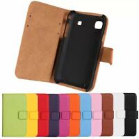 Luxury Genuine Leather Flip Stand Case Wallet Cover For Samsung Galaxy S i9000