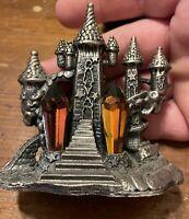 "pewter figurine fantasy ""Castle Of Light"""
