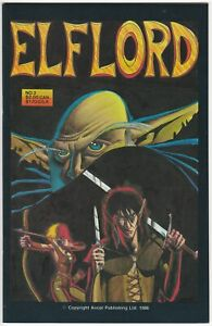 Elflord #2 NM+ 9.6 tough black cover Aircel Publishing 1986