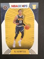2020-21 Panini NBA Hoops Winter Parallel RJ HAMPTON RC Rookie # 239