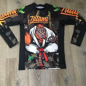 Tatami Fight Wear Mens Rashguard BJJ Red Belt Gorilla Mens Size Large