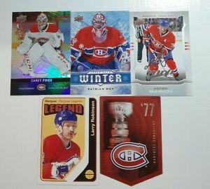 Montreal Canadiens 5 Card Lot Price, Roy, Markov, Robinson, Panini Banner