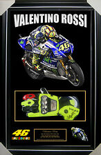 VALENTINO ROSSI SIGNED FRAMED RACE GLOVE + COA + PROOF *HOME OF THE REAL DEAL*