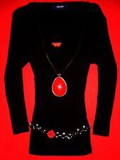 MEXX SHIRT BLUSENSHIRT SCHWARZ LONGSLEEVE BLUSE BoHo BLOGGER S 36 NEUW.!! TOP!!