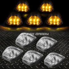 FOR 99-16 FORD SUPERDUTY 5PCS CHROME YELLOW LED CAB ROOF RUNNING LIGHT+HARNESS