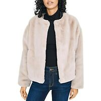 MSRP $139 Sanctuary Starry Night Faux Fur Jacket Stone Beige Size Large
