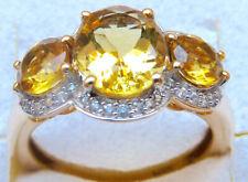 Harry Ivens IV Ring Gelbgold 375 Goldberyll (beh.) weisse Zirkone
