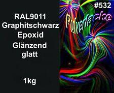 Epoxid PULVERLACK Beschichtungspulver Pulverbeschichtung RAL9011 Graphitschwarz