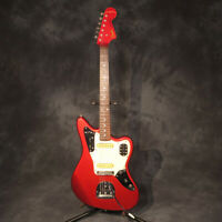 Fender 1997 Jaguar Candy Apple Red Matching Headstock Electric Guitar