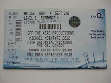 MICHAEL MCINTYRE  LONDON  28/09/2012  TICKET