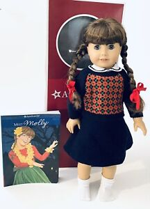 "Molly American Girl Doll 18"" in original clothing with Original Box And Book"