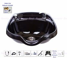 Round Shampoo Bowl Beauty Salon Sink Spray Hose ABS Plastic Towels TLC-B12-KRGT