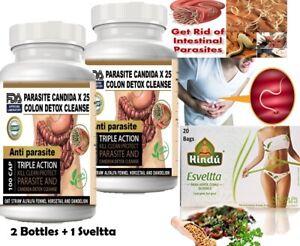 200 Parasite Cleanse DETOX Liver Colon Yeast Blood KILL COLON CLEANSER FAST &TEA
