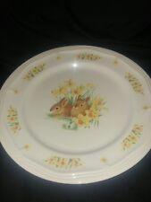Domestications Easter Bunnies Dinnerware Meat Platter