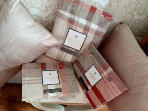 Dorma Glencoe tartan check superking duvet set with matching cushions