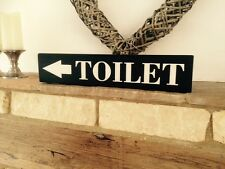Toilet Sign Plaque Vintage Old LOOK Wood Home Pub Hotel Hand Made Shabby Chic