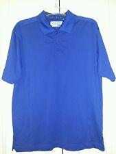 Mens Cutter & Buck Performance Golf Polo DryTec Wicking Shirt Blue SIZE Lg.