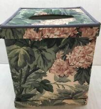 Laura Ashley Ashbourne Tissue Box Cover Excellent