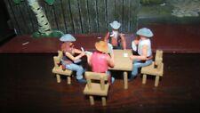 elastolin steckfiguren swoped umbau tolle poker runde cowboys