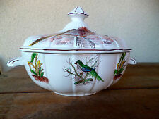 Este Ceramiche Italy Wildlife Hand Painted Artist Signed  Soup Tureen