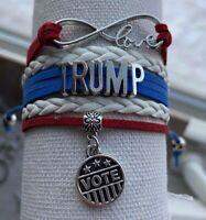 Trump Bracelet, Women's Donald Trump Charm Jewelry, Republican Gift, MAGA, Vote
