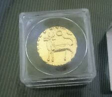 Malaysia 24k Gold plated replica kijang Coin 1pc with brochure
