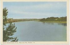 "Canada ca. 1930 superb mint coloured pc ""South Saskatchewan River, Medicini Hat"""