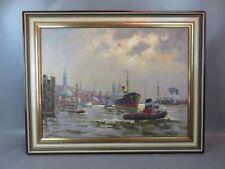 Ölgemälde Hamburger Hafen - Karl Goldberg signiert wohl um 1950
