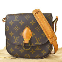 Auth LOUIS VUITTON Mini Saint Cloud Shoulder Bag Monogram Brown M51244 85MF327