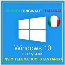 LICENZA WINDOWS 10 PRO RETAIL ITALIANA ORIGINALE 32 / 64 BIT PRODUCT KEY WIN 10