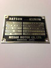 Datsun 510 68-73 OEM Model Identification Plate