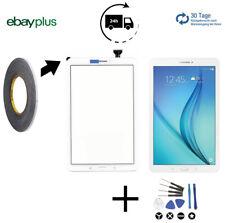 Display Glas für Samsung Galaxy Tab E T560 Touchscreen Scheibe mit Kleber Weiß