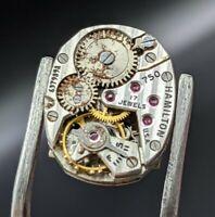 1940's Hamilton Grade 750 17 Jewels U.S.A. Watch Movement FOR PARTS OR REPAIR