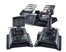Logitech Flight System G940 ForceFeedback Controller W/ Joystick Throttle Pedals