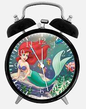 "The Little Mermaid Ariel Alarm Desk Clock 3.75"" Home Office Decor E246 Nice Gift"