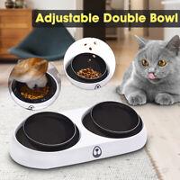 UK Doppel Schleife Futterspender Haustier L Hund Katze Futter Wasser Näpfe Stand