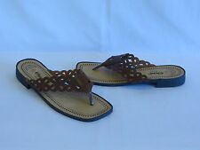 Romano Brown Leather Thongs/Slides - 7.5M – GR8!