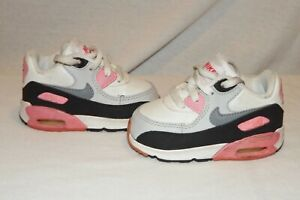 Nike Airmax 90 pink white gray sneakers size 4 toddler girls HCB