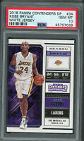 Kobe Bryant 2018 Panini Contenders Draft Picks Basketball Card #34 Graded PSA 10