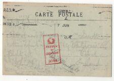 WW1 Army PO 3 Postmark 7 Jun 1918 Postcard France 163c
