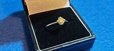 Platinum Half Carat Yellow Fancy Diamond Ladies Ring. NY703