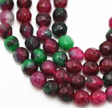 New 4mm Natural Faceted green Ruby Emerald Round Gemstone Loose Beads 15''