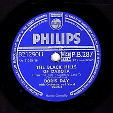 1954 DORIS DAY 78 BLACK HILLS OF DAKOTA /JUST BLEW IN FROM THE WINDY CITY EX/EX-